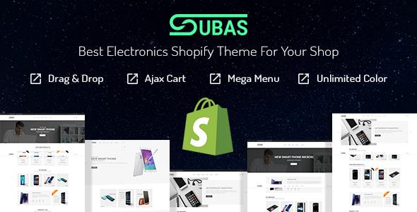 Subas – Responsive Drag & Drop Shopify Theme