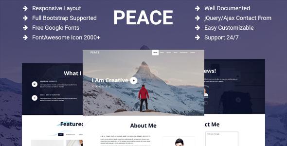 Peace – Personal Portfolio Template