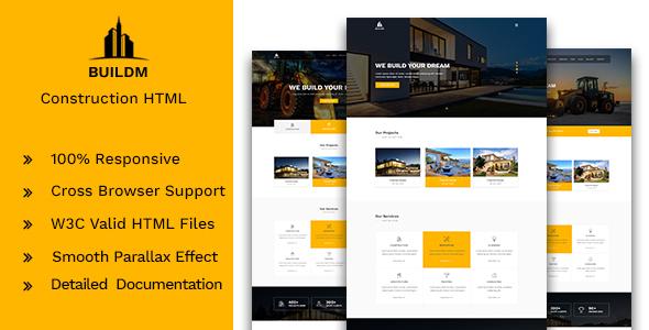 Buildm – Construction HTML Template