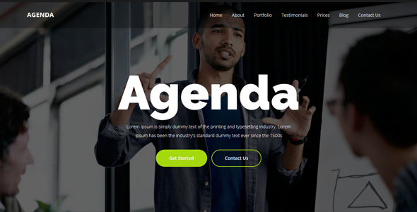 Agenda – One Page Parallax Template