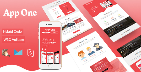 App One – Mobile App Email Template