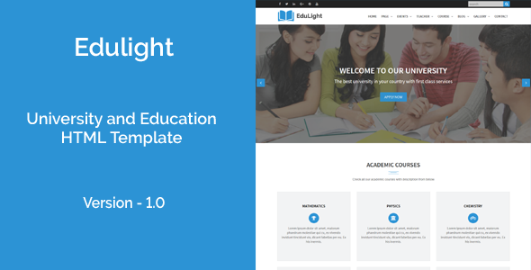 EduLight – University and Education HTML5 Template