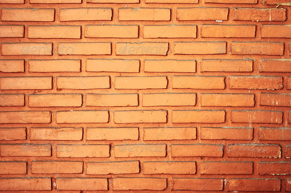 Red brick wall texture background - Stock Photo - Images
