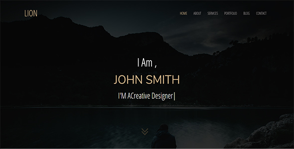 Lion – Parallax Personal One Page