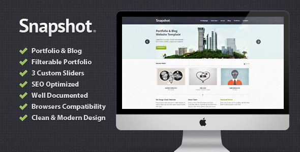 ThemeForest Snapshot Portfolio & Blog HTML Template 1953332