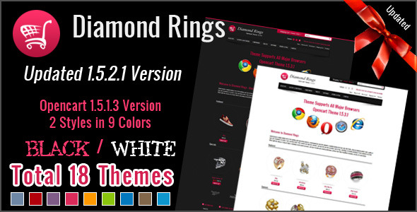 Diamond Rings OpenCart Theme