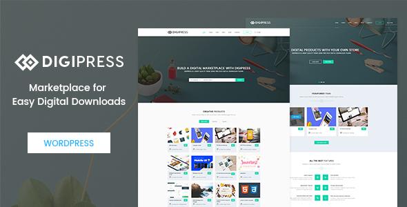 Digipress – Marketplace for Easy Digital Downloads WordPress Theme