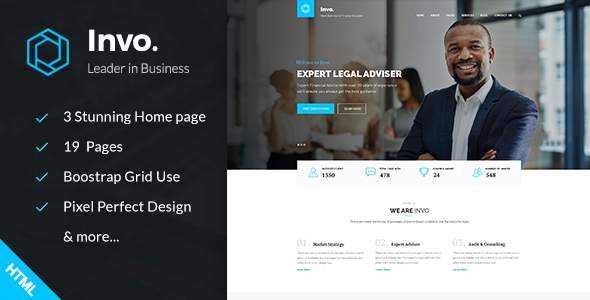 Invo – Business, training & Consulting HTML Template