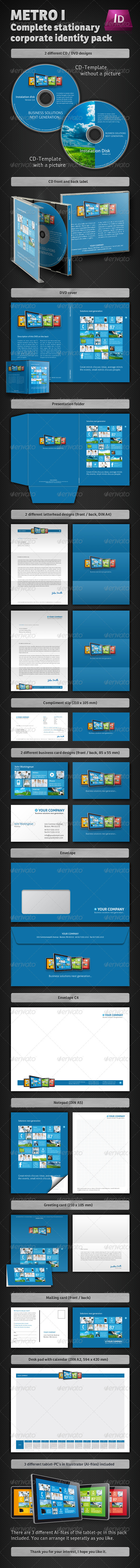 Metro I Corporate Identity Stationary Pack - Stationery Print Templates