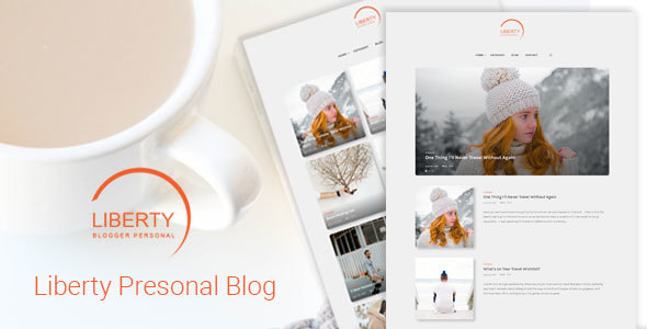 Liberty – A Clean Personal WordPress Blog Theme
