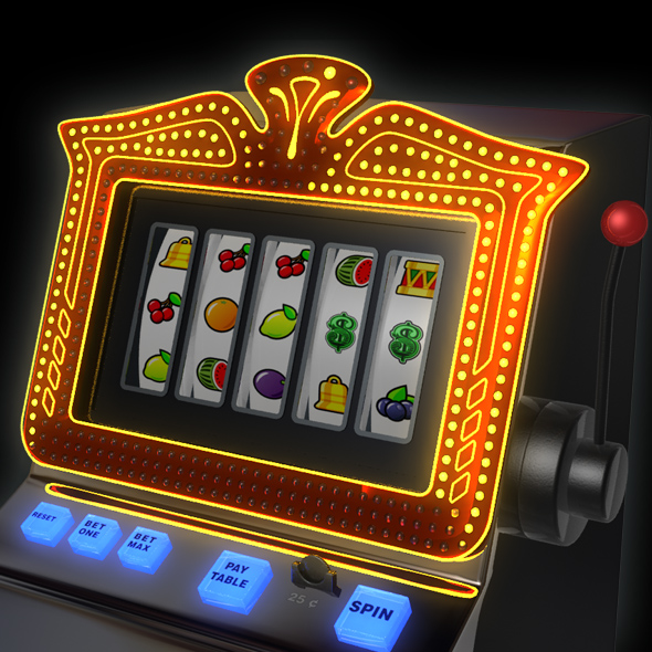 3DOcean Slot Machine animated 75494