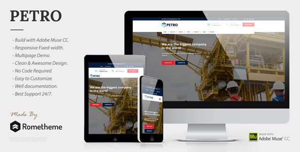 Petro – Industrial Muse Template