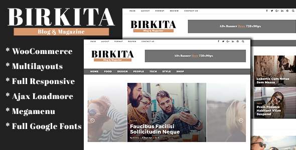 Birkita – WordPress Blog and Magazine Theme