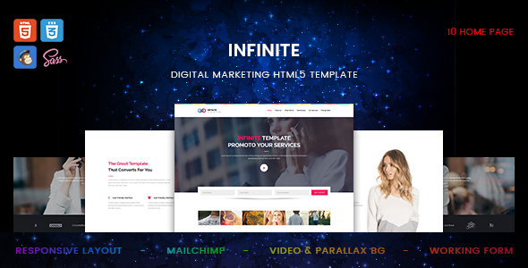 Infinite – Digital Marketing HTML5 Template