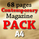 68 Pages Contemporary Magazine Pack - GraphicRiver Item for Sale