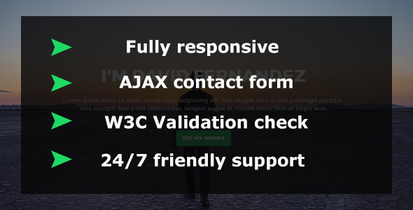 AZARO – Minimal Portfolio Responsive HTML5 Template