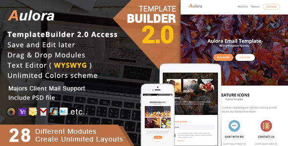 Aulora – Responsive Email + MailBuild Online