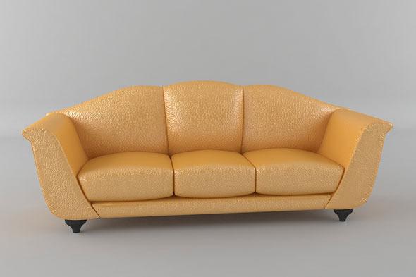 3DOcean Italian Sofa Model 1960504