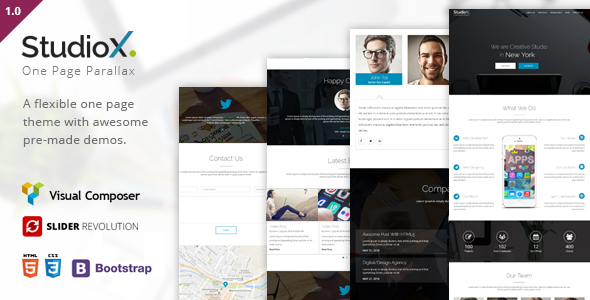 StudioX – One Page WordPress