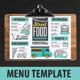 Food Truck Menu-Graphicriver中文最全的素材分享平台