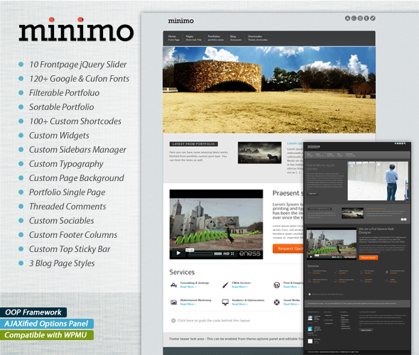 Minimo / Corporate, Business, Portfolio, BlogTheme