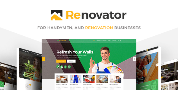 Renovator – A Theme for Repairman, Contractors and Renovation Businesses