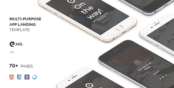 CAIO – Multipurpose App Landing Template