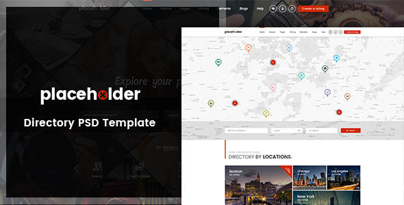 Placeholder – Directory & Listing PSD Template