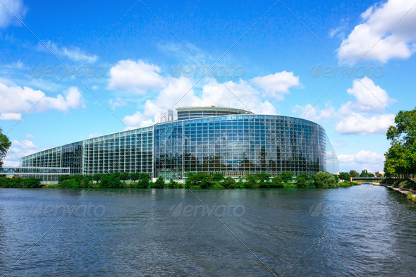 European parliament building in Strasbourg - Stock Photo - Images