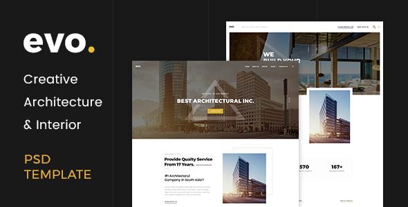 EVO – Creative Architecture & Interior PSD Template
