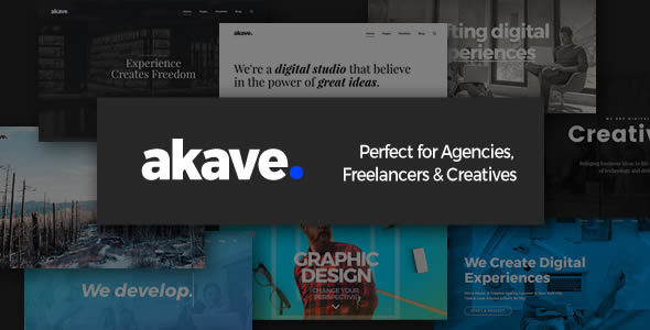 Akave – Theme for Agencies, Freelancers & Creatives