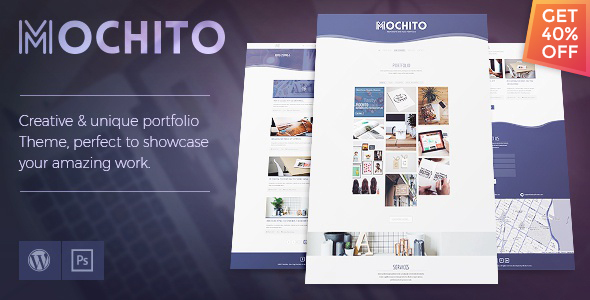 Mochito – One-Page Portfolio Ajax WordPress Theme