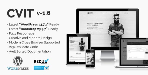 Cvit | Multipurpose Personal Portfolio / Vcard / Cv / Resume