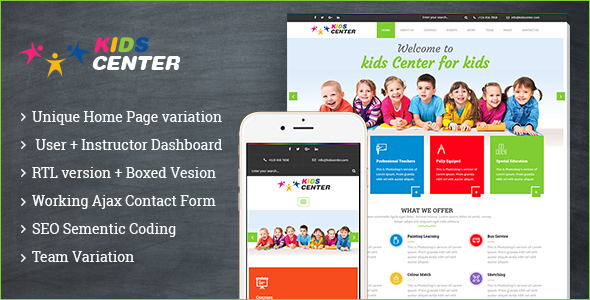 Kidcenter – Education WordPress Theme