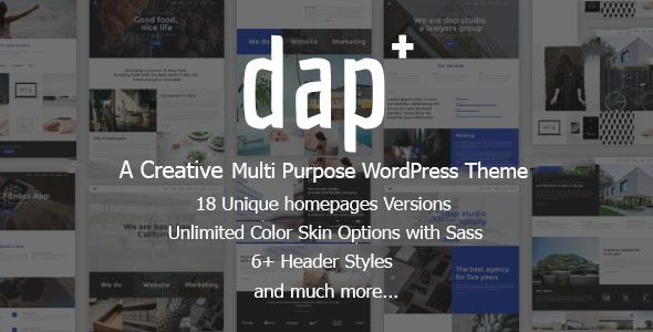 Dap – Creative MultiPurpose WordPress Theme
