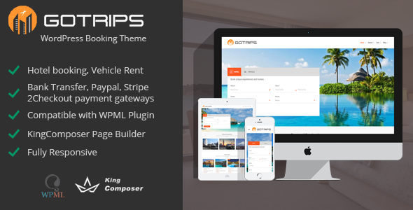 Gotrips – WordPress Booking Theme