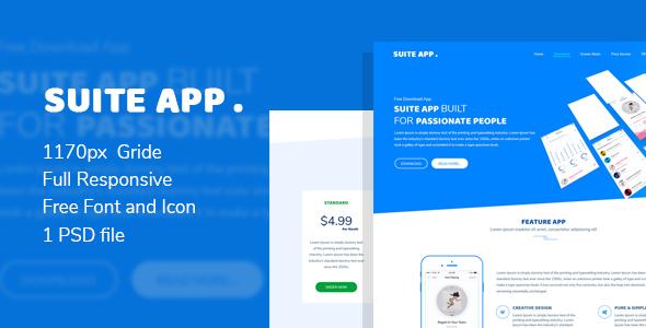 Suite App –  App Landing Page