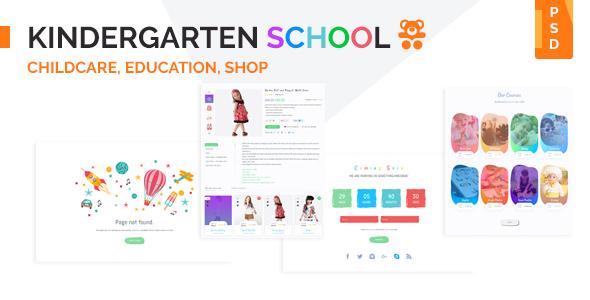 Kindergarten School PSD Template