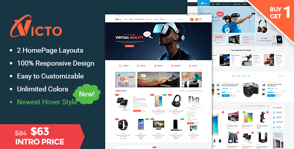 Victo – Ultimate Responsive Magento 2.1 Theme