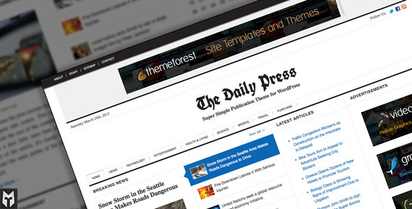 ThemeForest The Daily Press Super Simple WP Publication Theme 1965747