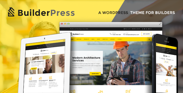 BuilderPress – WordPress Theme for Construction, Architecture and Interior Design Industry