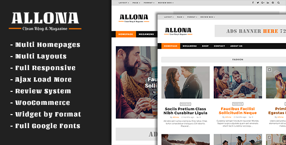 Allona – Clean & Beautiful Blog and Magazine Theme