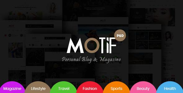 Motif – Multi-Demo Blog & Magazine PSD Template