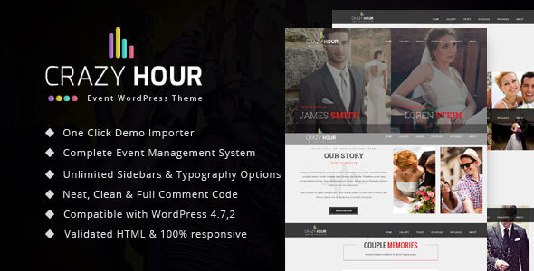 Crazy Hour – Event Management WordPress Theme