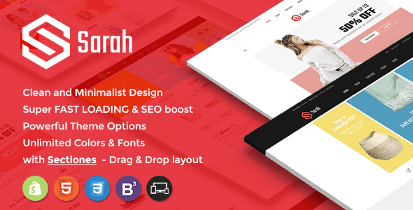 Sarah – Sectioned Responsive Shopify Theme
