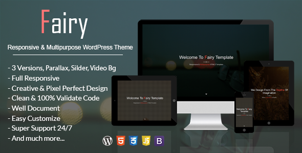 Fairy – Responsive & Multipurpose WordPress Theme