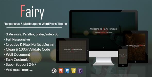 Fairy – Responsive & Multipurpose WordPress Theme