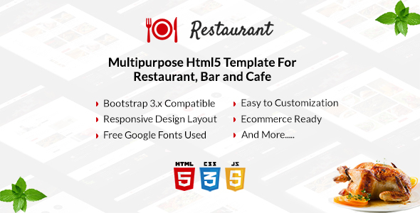 Restaurant – Multipurpose Html5 Template For Restaurant, Bar and Cafe