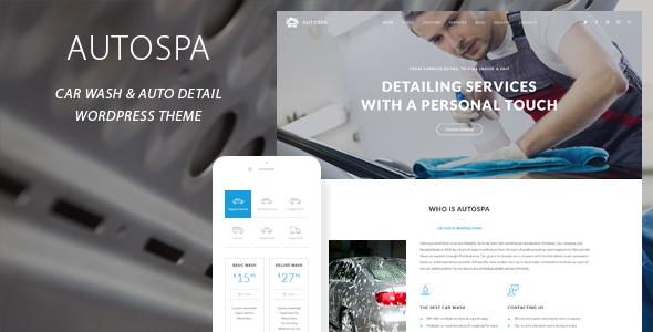 Auto Spa – Car Wash Auto Detail WordPress Theme