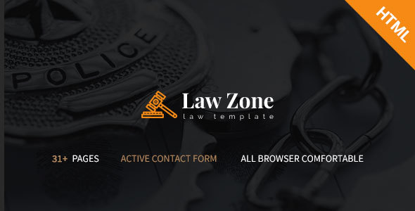 Lawzone- Law Firm, Lawyer and Attorney Responsive HTML5 Template